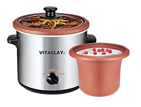 Amazon VitaClay Organic Slow Cooker And Yogurt Maker 2 Quart