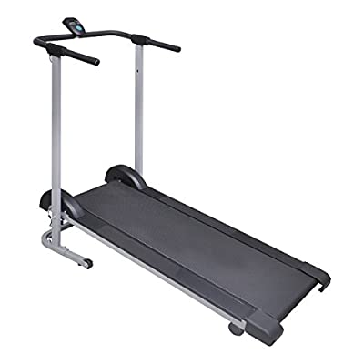 vidaXL Folding Manual Treadmill Running Machine Cardio Fitness
