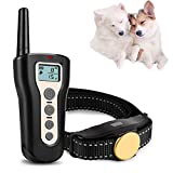 FXQIN Dog Training Collars - Electric Sport Dog Shock Collar with Remote, Rechargeable, with Beep/Vibration/Shock for Small Medium Large Dogs