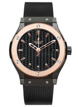 Hublot Classic Fusion Carbon Dial Rubber Mens Watch 561.CP.1780.RX
