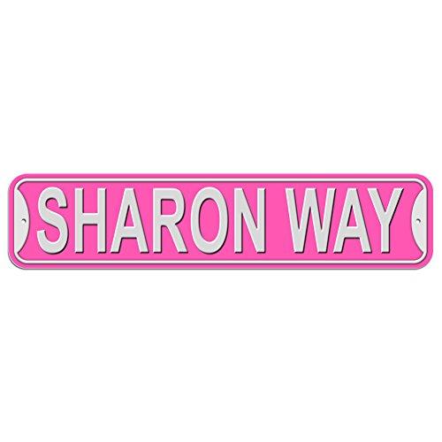 Sharon Way Sign - Plastic Wall Door Street Road Female Name - - Sharon Rd