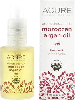 Acure Aroma-therapeutic Moroccan Argan Oil, Rose, 1 fl oz