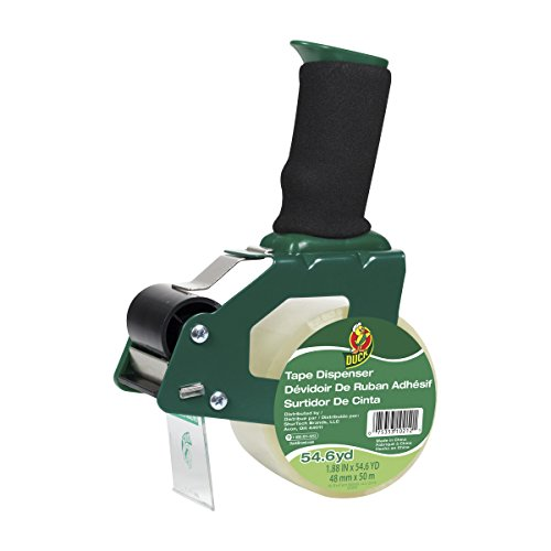 Duck Brand Foam Handle Tape Gun With Clear Packaging Tape, 1.88 Inch x 54.6 Yard (669332)