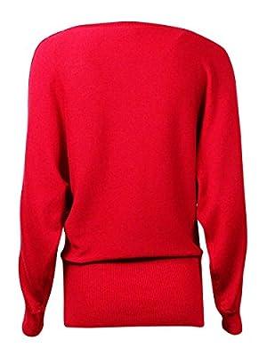 Ny Collection Embellished Cold-Shoulder Sweater