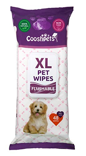 Cooshpets Premium Formulations XL Flushable Pet Wipes (Single Pack)