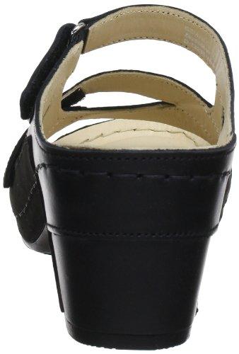 Noir 3561 Femme schwarz Florett Mules 60 gtqTvwAx