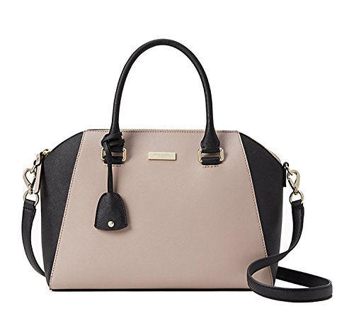 Kate Spade Tilden Place Pippa Satche Bag (almondine/black)