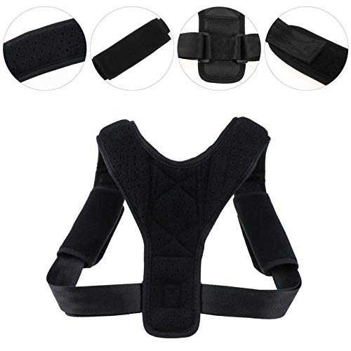 Correcci/ón de Postura Zexuan Posture Corrector para Mulheres e Homens Ajust/ável Na Parte Superior Das Costas Brace Postura Terap/êutica Da Parte Superior