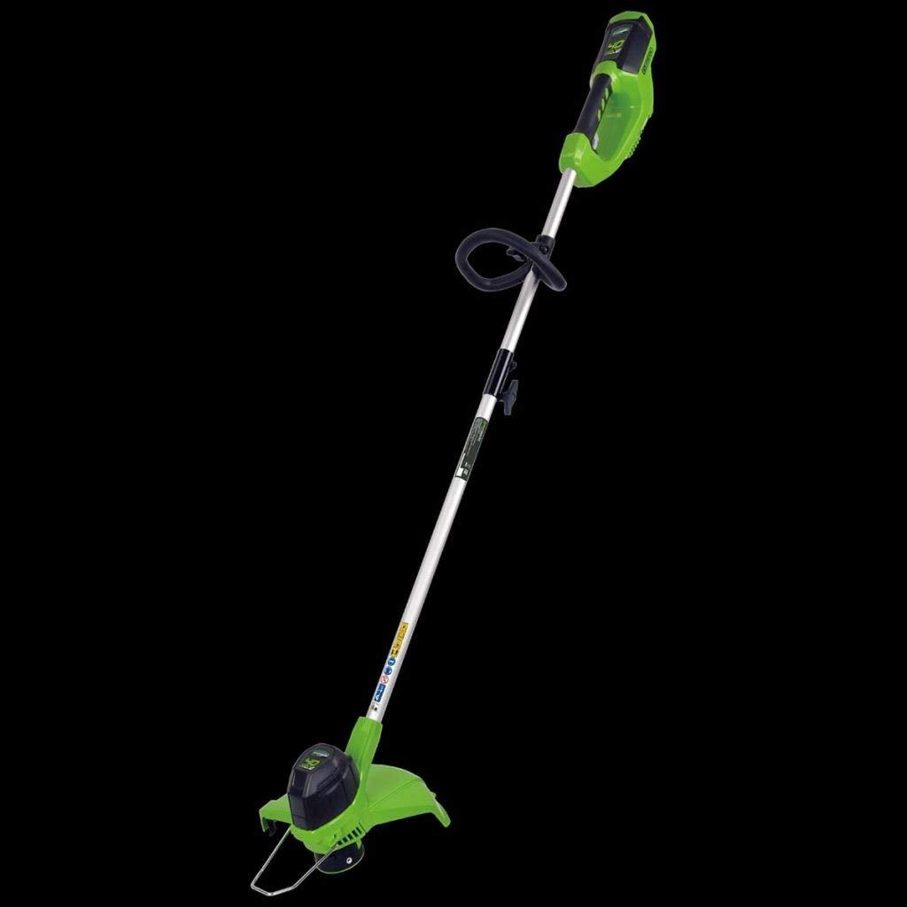 Greenworks 2101507 Cortabordes Inalámbrico, 40 V, Verde
