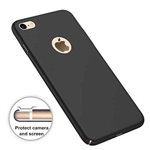 Funda Xiaomi Redmi Note 4 4X Versión Global, Caso con [Protector de Pantalla Cristal Templado] [Ultra-Delgado] [Ligera] Anti-Huellas Dactilares Totalmente Protectora Estuche de Plástico Duro -Negro Negro
