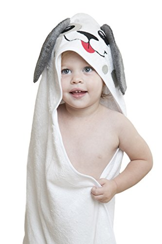 Bambaby's Premium Puppy Hooded Baby Towel for Infants Toddlers and Children - (Puppy Hooded Bath Towel)