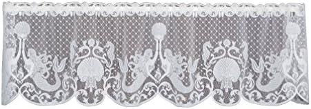 Heritage Lace White Mermaids 60 x15 Valance, 60 x 15
