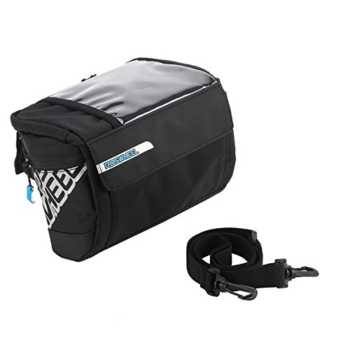 Spalyer Lenkertasche Fahrrad Tragbare Fahrradtasche mit Abziehbarer Band,Schwarz