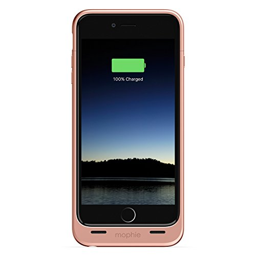 mophie Juice Pack - Protective Battery Case for iPhone 6s Plus/6 Plus (2,600mAh) (Renewed) (Rose Gold) (Iphone 6 Plus Mophie Juice)