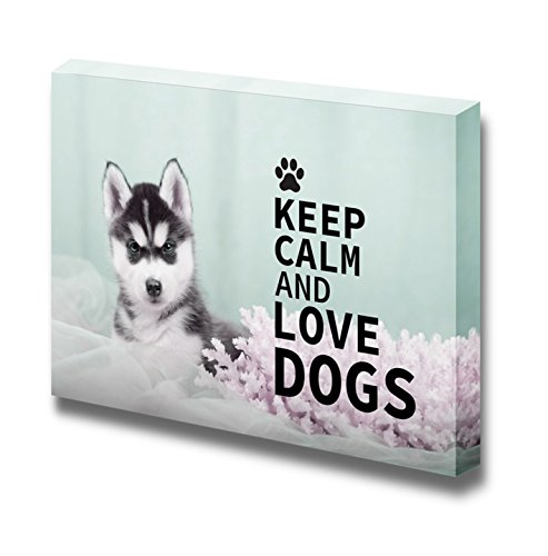 Keep Calm and Love Dogs Wall Decor Stretched