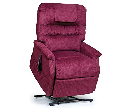 - Golden Technologies Monarch PC-355M Medium Lift Chair 3-Position Recliner - PR355-MED Heat and Massage Rosewood Red Fabric - In-Home Delivery and Setup