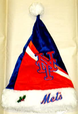 MLB - Forever Collectibles Swoop Logo Santa Hat, New York Mets