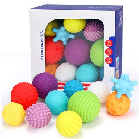 FairOnly Baby Toys Hand Grasping Ball Soft Ball Textured Multi Ball Set Develop Baby's Tactile Senses Toy for Touch and Massage Soft Ball 11pcs