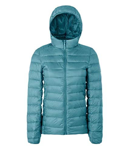 Fitness Light Women Short Blue Jacket Down Weight RkBaoye Warm Solid Hooded RfFAxwq
