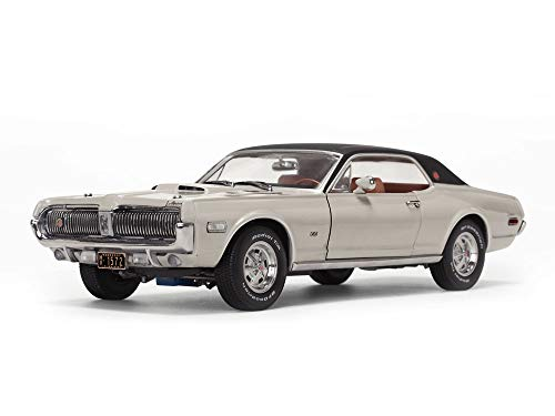 1968 Mercury Cougar XR7G Fawn Beige with Black Top 1/18 Diecast Model Car by SunStar 1572