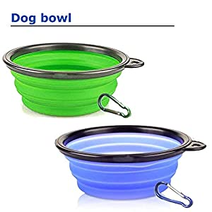 dogcute.net Collapsible Dog Bowl Silicone - Dog Bowl 2 Pack, Dishwasher Portable Foldable Travel Pet Bowls for Journeys & Hikes 73