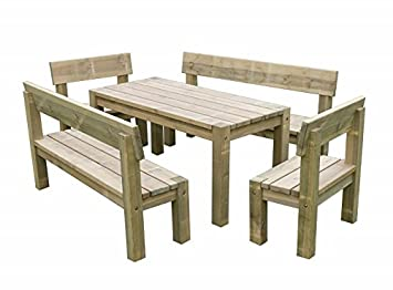 Brilliant Garden Magic Bluebell Table Bench Set Outdoor Garden Gamerscity Chair Design For Home Gamerscityorg