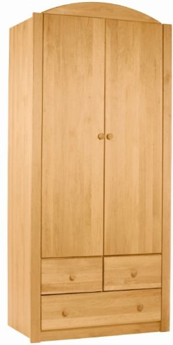 BioKinder 22126 Noah Schrank Kinder-Kleiderschrank aus Massivholz 197 x 90 x 57 cm