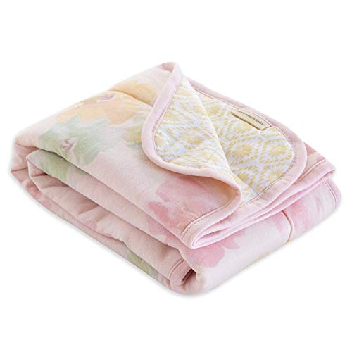 Burt's Bees Baby - Reversible Blanket, Nursery, Stroller & Tummy-Time Organic Jersey Cotton Quilted Infant & Toddler Bedding (Morning Glory)