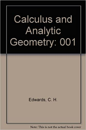 Calculus and Analytic Geometry: 001