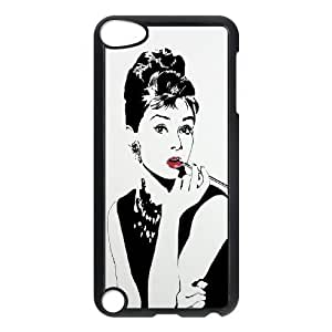 C-EUR Customized Print Audrey Hepburn Pattern Hard Case for iPod Touch 5