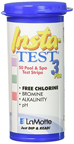 Test Way 3 Water Strips (Lamotte Insta Test 3 Swimming pool Test Strips, 50 Strips)