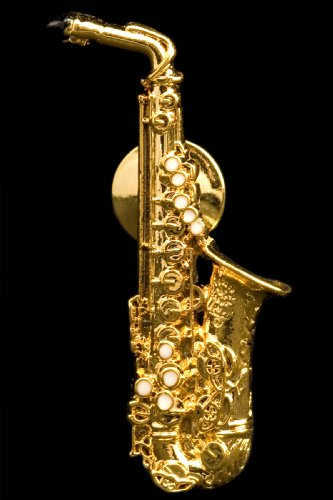 Alto Sax Pin - 24k Gold Plated Harmony Jewelry 4334281987