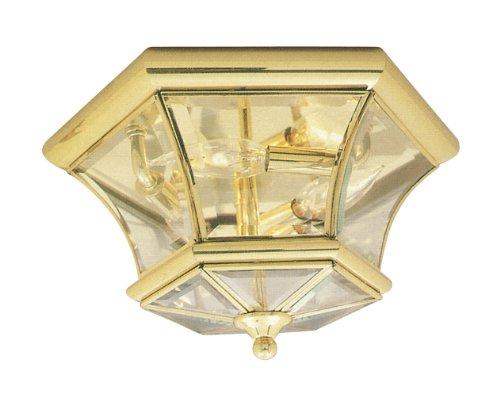 Livex Lighting 7053-02 Monterey/Georgetown 3 Light Ceiling Mount, Polished Brass 02 Ceiling Mount