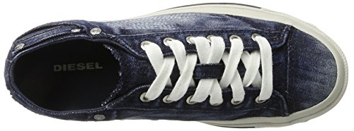 Diesel Damen Magnete Exposure IV Low Sneaker Blau (Indigo)