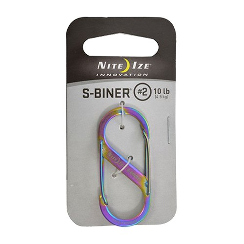 Nite Ize Size-0.5 S-Biner Dual Spring Gate Carabiner, Stainless, 2-Pack by Nite Ize