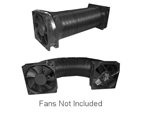 92//120mm Fan//4 7-30 Coolerguys Thermal Plastic Duct with End Caps for Electronics and Crypto Mining