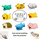 GOBEAUTY 8 Pack Cable Protector for Phone Cable Winder Phone Holder Accessory Animal Biter