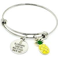 Pineapple, Tropical Inspirational Gifts Bangle Bracelet