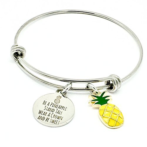 Pineapple, Tropical Inspirational Gifts Bangle Bracelet ()