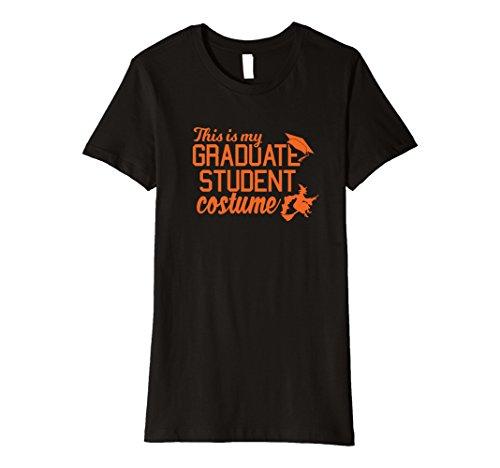 [Womens Graduate Costume October College Graduation T Shirt Large Black] (College Graduate Halloween Costume)