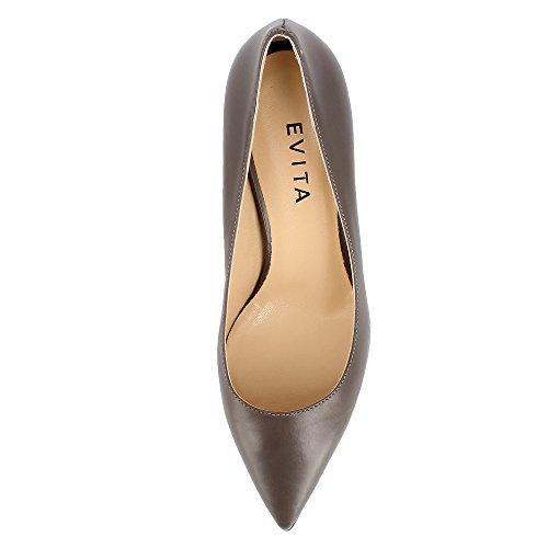 Evita Escarpins Cuir Taupe Femme Romina Lisse Shoes P4qxPw7