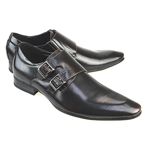 MM / ONE Herren Freizeitschuhe Oxford Schuhe Kleid Shees Lace Up Classic Modern Schwarz Dunkelbraun Chmpt112-5 dunkelbraun