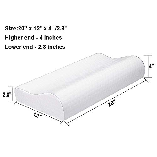 Bamboo Cervical Orthopaedic Contour Memory Foam Firm Pillow Neck Back Support