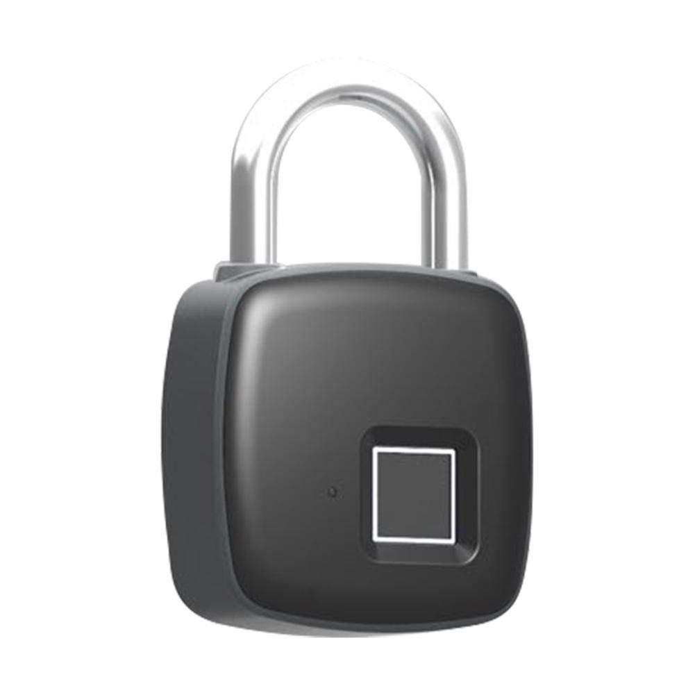 Fingerprint Smart Padlock, IP65 Waterproof Anti-theft Keyless Security Padlock Outdoor for Gym Door Backpack Luggage Suitcase Bike Office by iShine (Image #7)