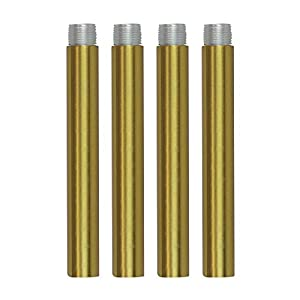 VINLUZ 4 Inches Pendant Extension Rods for Chandelier, Brass Accessory Stem Kit Down Rod Pack of 4