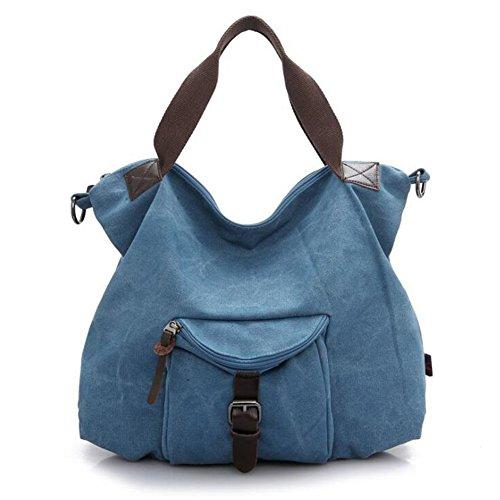 Main à en Sac tissu pour fille Kaichen épaule Sac Grand Bleu Sac Femme bandoulière Vintage Fzp4I
