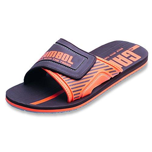 Scarpe Sandali Gambol Uomo - Stile Zah Marrone E Arancione