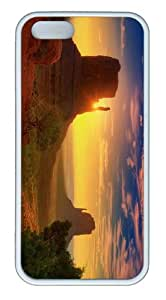 case poetic covers Canyon Sunrise TPU White Case for iphone 5/5S