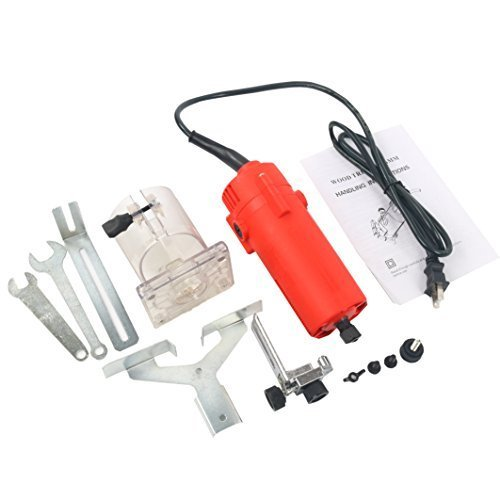YaeTek 110V Trim Router Edge Woodworking Compact Router Wood Clean Cuts Power Tool Set 30000RPM 1/4'' collet