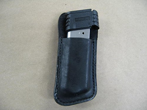 Springfield XDS 9mm Leather Clip On OWB Belt Magazine Mag pouch CCW BLACK USA